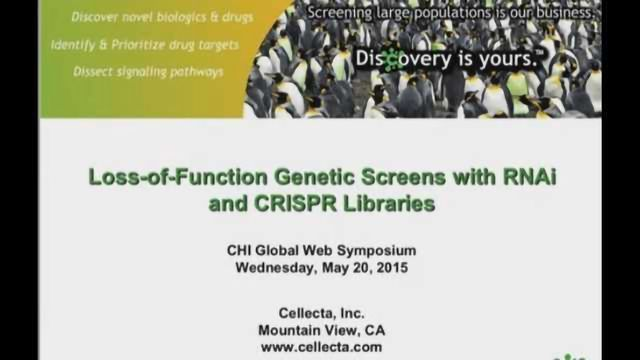 Loss-of-Function Genetic Screens with RNAi and CRISPR Libraries