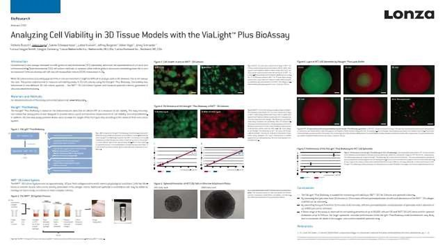 Analyzing Cell Viability in 3D Tissue Models with the ViaLight™ Plus BioAssay