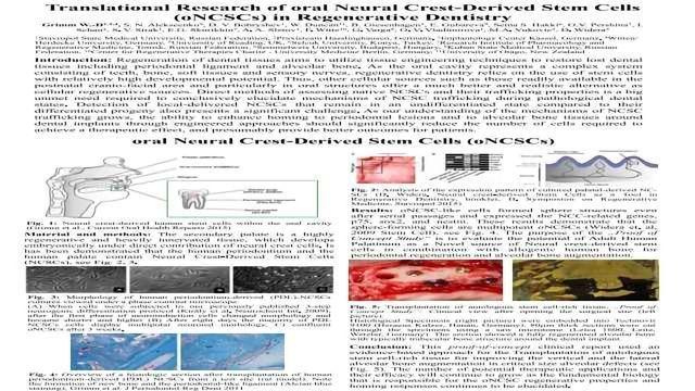Translational Research of Oral Neural Crest-Derived Stem Cells (oNCSCs) in Regenerative Dentistry