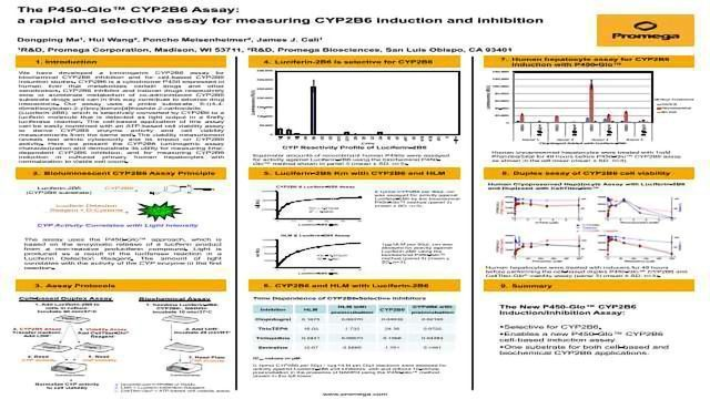 The P450-Glo™ CYP2B6 Assay: a Rapid and Selective Assay for Measuring CYP2B6 Induction and Inhibition