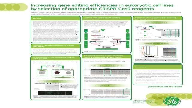 Increasing Gene Editing Efficiencies in Eukaryotic Cell Lines by Selection of Appropriate CRISPR-Cas9 Reagents