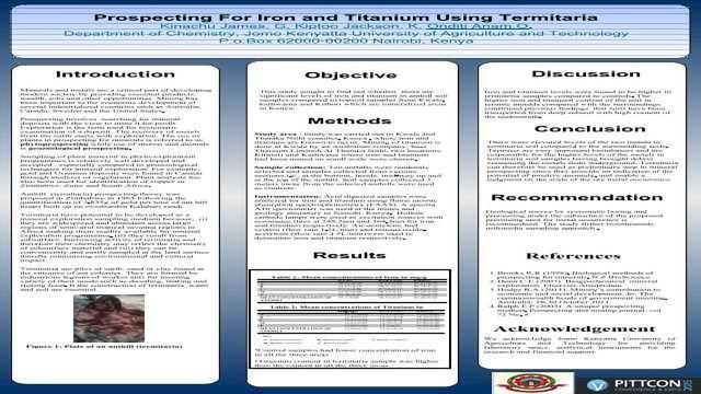 Prospecting For Iron and Titanium Using Termitaria