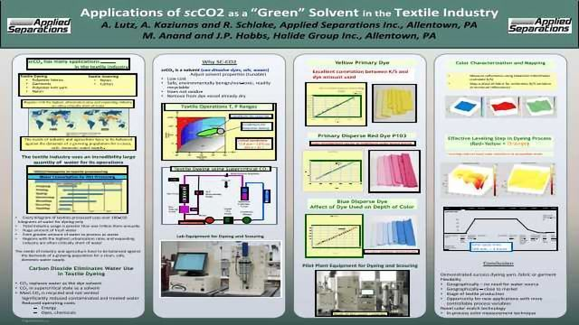 "Applications of scCO2 as a ""Green"" Solvent in the Textile Industry"