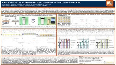 A Microfluidic Device for Detection of Water Contamination from Hydraulic Fracturing