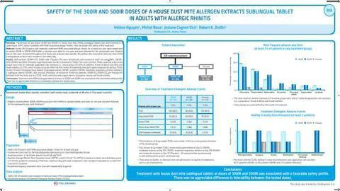 Safety Of The 300 IR and 500 IR Doses Of A House Dust Mite Allergen Extracts Sublingual Tablet In Adults with Allergic Rhinitis