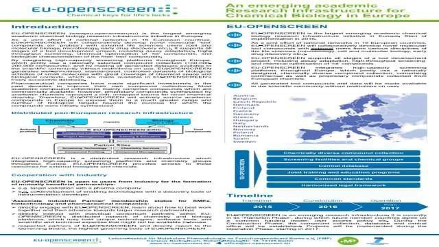 EU-OPENSCREEN - The European Research Infrastructure of Open Screening Platforms for Chemical Biology