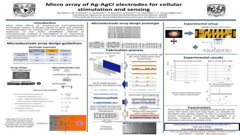 Micro array of Ag-AgCl electrodes for cellular stimulation and sensing