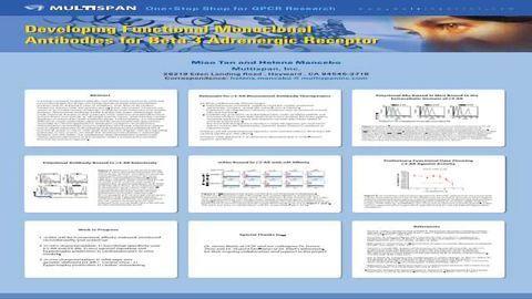 Developing Functional Monoclonal Antibodies for Beta-3 Adrenergic Receptor