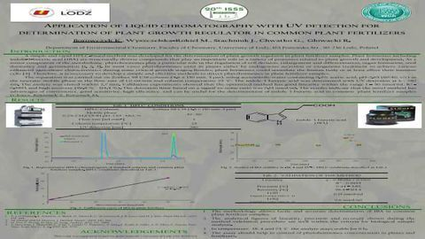 APPLICATION OF LIQUID CHROMATOGRAPHY WITH UV DETECTION FOR DETERMINATION OF PLANT GROWTH REGULATOR IN COMMON PLANT FERTILIZERS