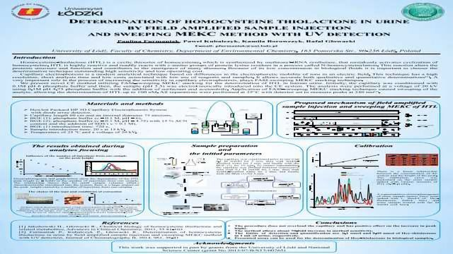 DETERMINATION OF HOMOCYSTEINE THIOLACTONE IN URINE BY FIELD AMPLIFIED SAMPLE INJECTION AND SWEEPING MEKC METHOD WITH UV DETECTION