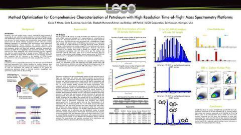 Method Optimization for Comprehensive Characterization of Petroleum with High Resolution Time-of-Flight Mass Spectrometry Platforms