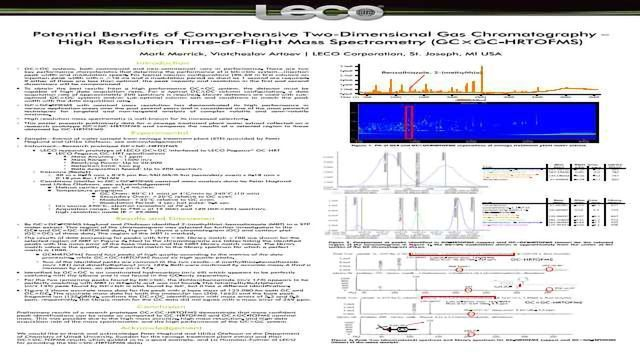 Potential Benefits of Comprehensive Two=Dimensional Gas Chromatography — High Resolution Time-of-Flight Mass Spectrometry (GCxGC-HRTOFMS)