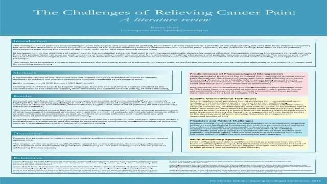The Challenges of Relieving Cancer Pain: A Literature Review