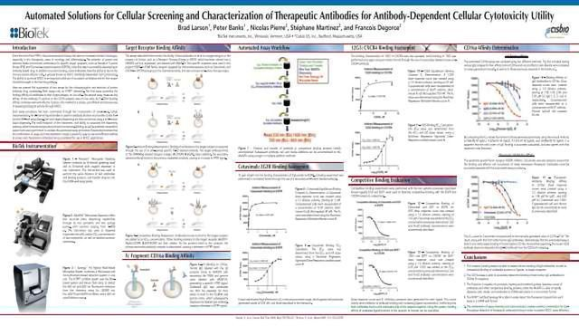 Automated Solutions for Cellular Screening and Characterization of Therapeutic Antibodies for Antibody-Dependent Cellular Cytotoxicity Utility