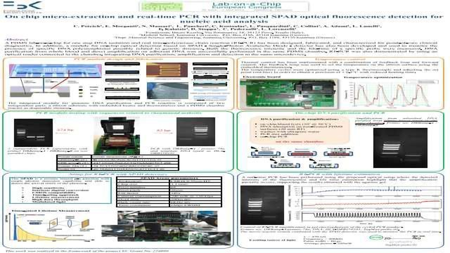 On chip micro-extraction and real-time PCR with integrated SPAD optical fluorescence detection for nucleic acid analysis