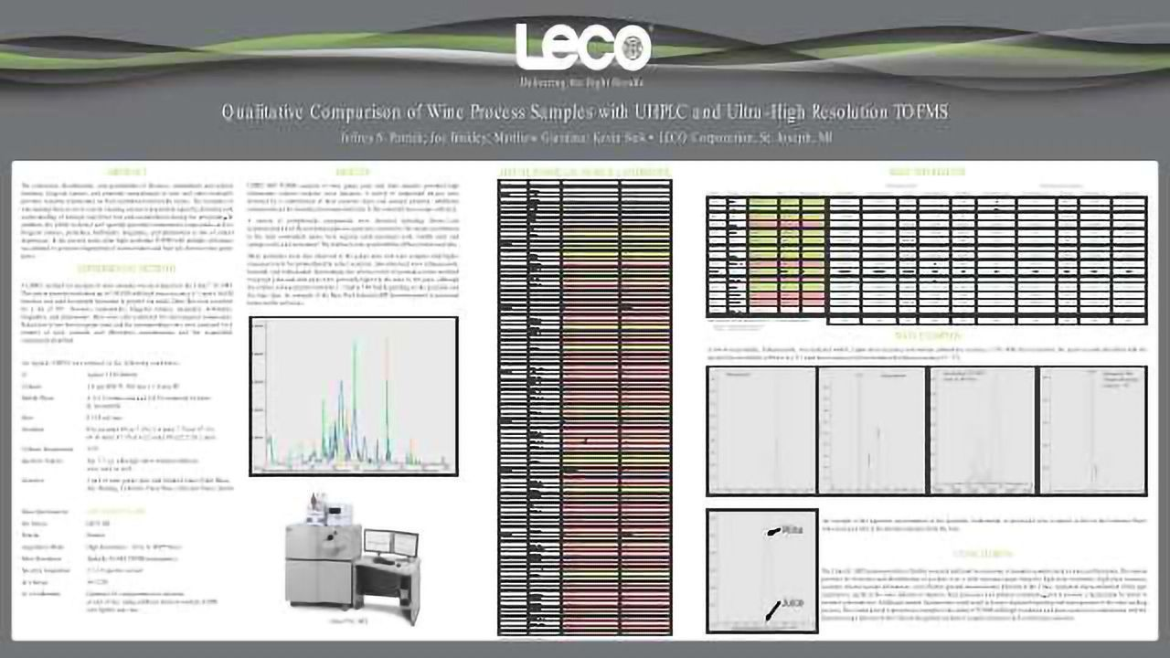 Qualitative Comparison of Wine Process Samples with UHPLC and Ultra-High Resolution TOFMS