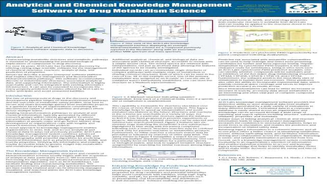 Analytical and Chemical Knowledge Management Software for Drug Metabolism Science