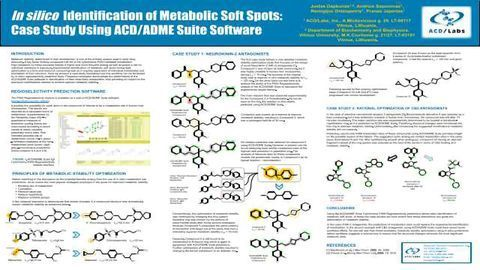 In silico Identification of Metabolic Soft Spots: Case Study Using ACD/ADME Suite Software