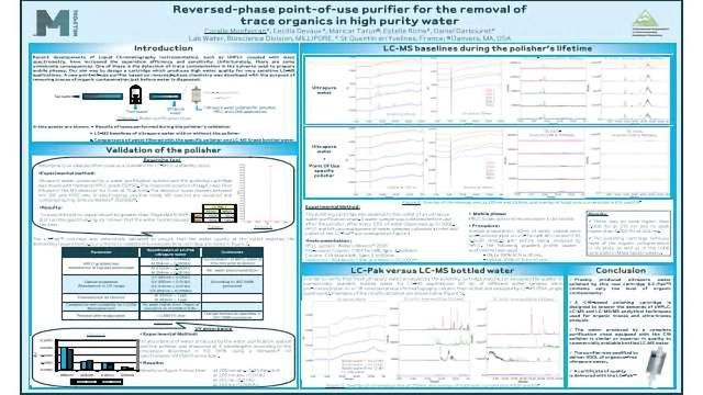 Reversed-Phase Point-of-use Purifier for the Removal of Trace Organics in High Purity Water
