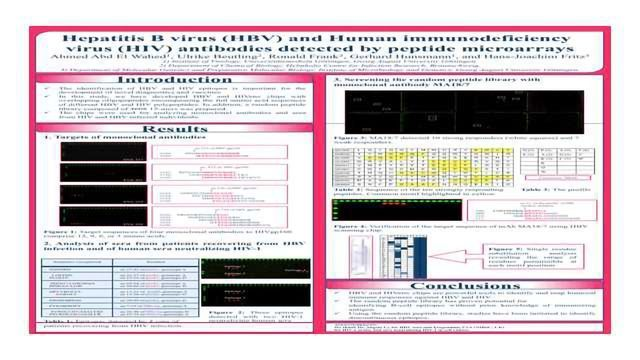 Hepatitis B virus (HBV) and Human immunodeficiency virus (HIV) antibodies detected by peptide microarrays