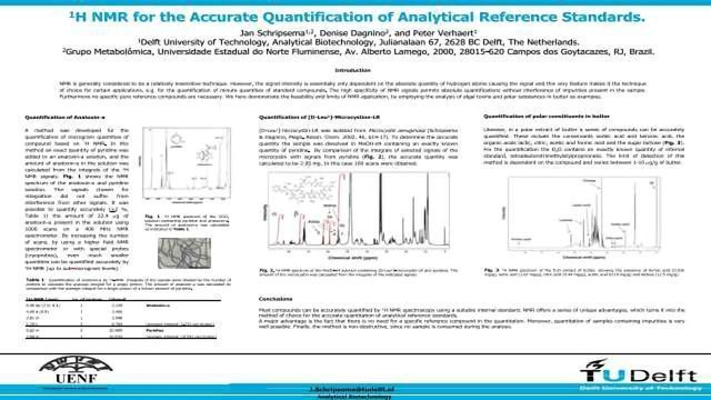 1H NMR for the Accurate Quantification of Analytical Reference Standards