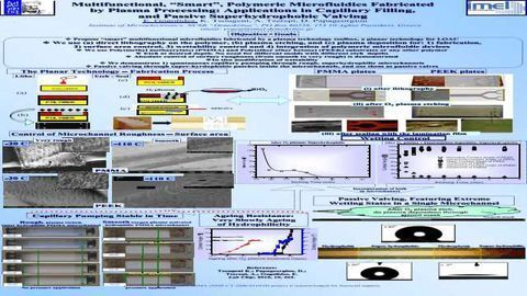"""Multifunctional, """"Smart"""", Polymeric Microfluidics Fabricated by Plasma Processing: Applications in Capillary Filling, and Passive Superhydrophobic Valving"""