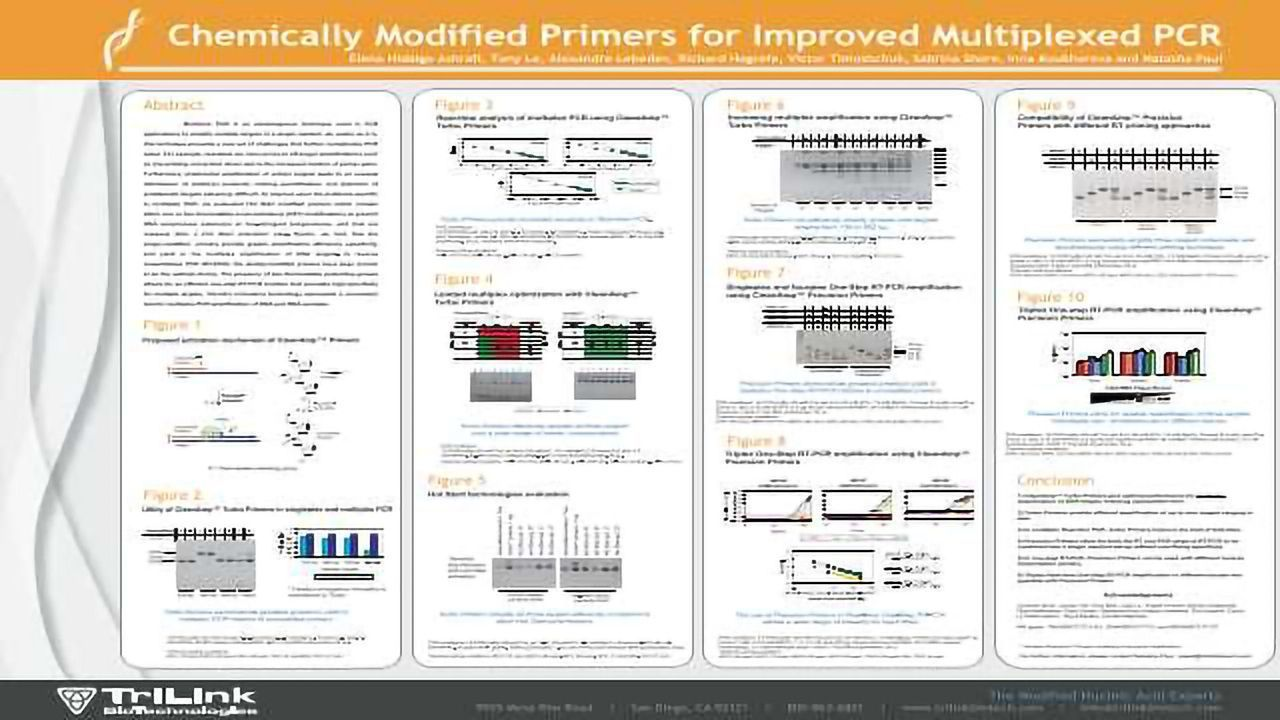 Chemically Modified Primers for Improved Multiplexed PCR