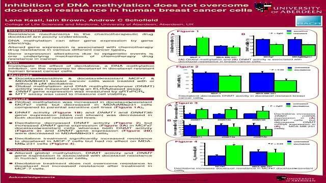 Inhibition of DNA methylation does not overcome docetaxel resistance in human breast cancer cells
