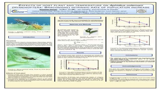 Effects of host plant and temperature on Aphidius colemani (Hymenoptera: Braconidae) intrinsic rate of population increase