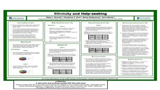 Ethnicity and Help-seeking