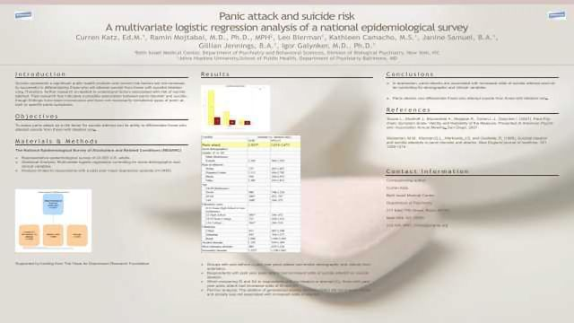 Panic attack and suicide risk: A multivariate logistic regression analysis of a national epidemiological survey