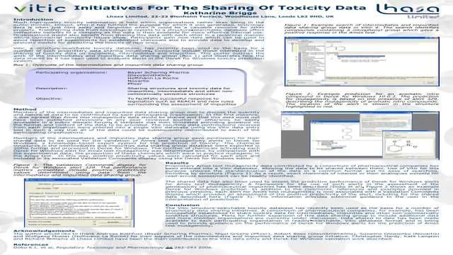 Initiatives For The Sharing Of Toxicity Data