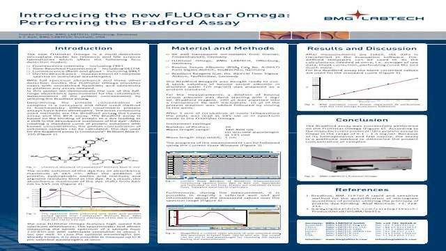 Introducing the new FLUOstar Omega: Performing the Bradford Assay