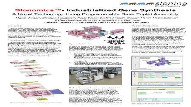 Slonomics™ - Industrialized Gene Synthesis