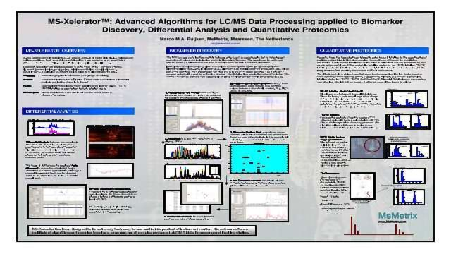 MS-Xelerator™: Advanced Algorithms for LC/MS Data Processing Applied to Biomarker Discovery, Differential Analysis and Quantitative Proteomics