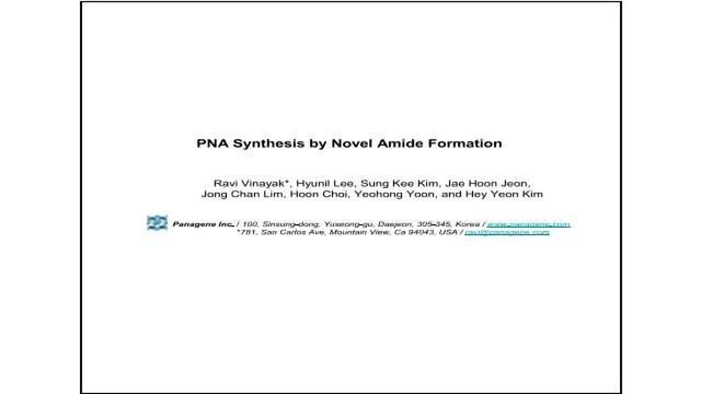 PNA Synthesis by Novel Amide Formation
