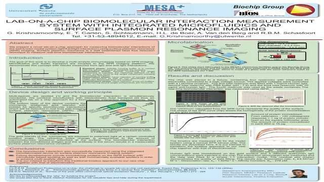 Lab-on-a-chip Biomolecular Interaction Measurement System with Integrated Microfluidics and Surface Plasmon Resonance Imaging