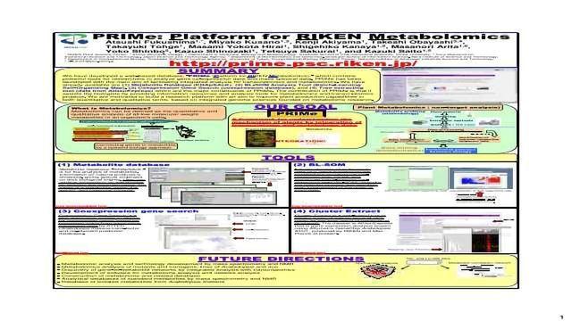 PRIMe: Platform for RIKEN Metabolomics