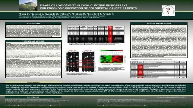 Usage of Low-Density Oligonucleotide Microarrays for Prognosis Prediction of Colorectal Cancer Patients