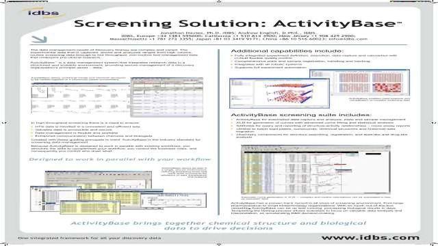 Screening Solution: ActivityBase™