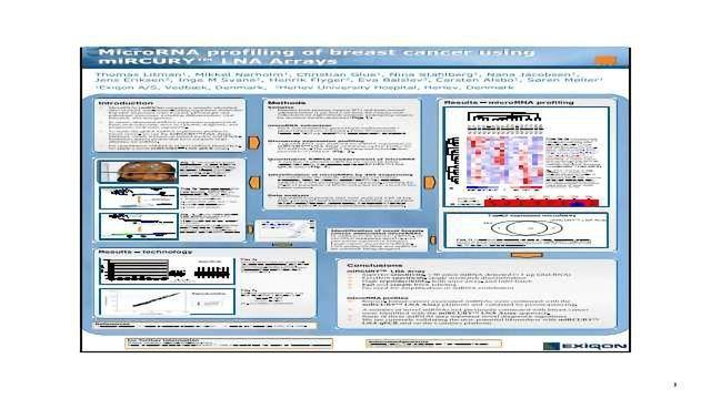 MicroRNA Profiling of Breast Cancer using miRCURY™ LNA Arrays