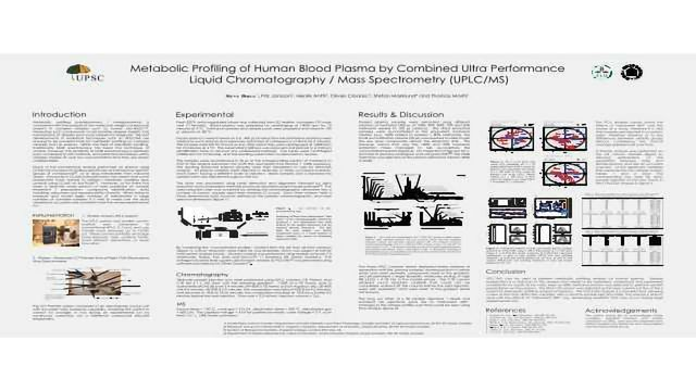 Metabolic Profiling of Human Blood Plasma by Combined Ultra Performance Liquid Chromatography / Mass Spectrometry