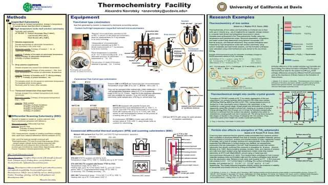 U C Davis Thermochemistry Facility Poster | Technology Networks