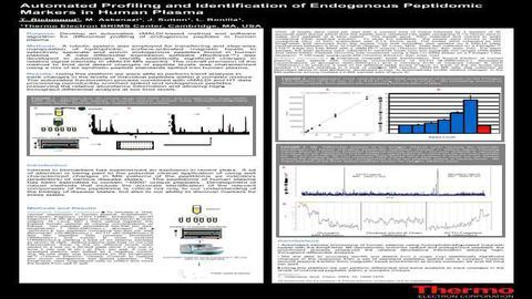 Automated Profiling and Identification of Endogenous Peptidomic Markers in Human Plasma