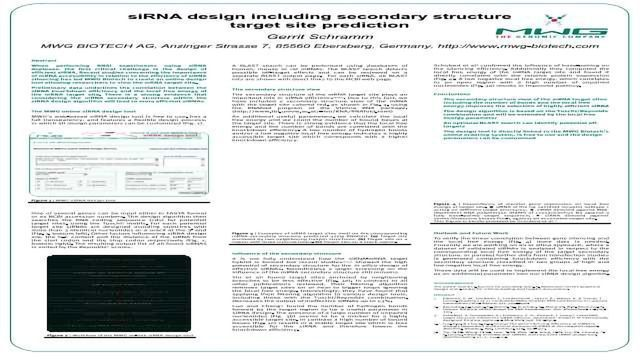 siRNA Design Including Secondary Structure Target Site Prediction