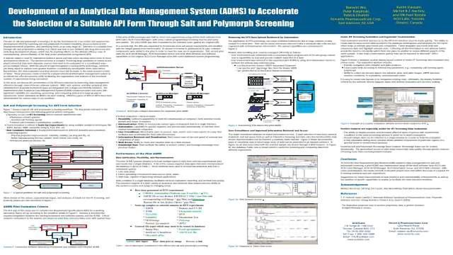 Development of an Analytical Data Management System (ADMS) to Accelerate the Selection of a Suitable API Form Through Salt and Polymorph Screening