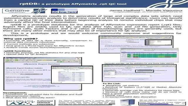 rptDB; a prototype Affymetrix .rpt QC tool