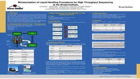 Miniaturisation of Liquid Handling Procedures for High Throughput Sequencing