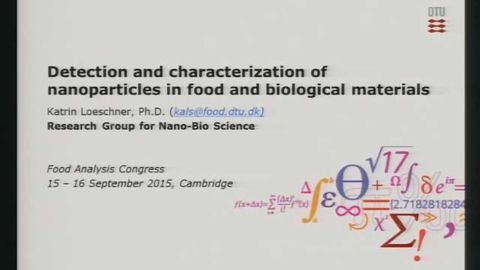 Detection and Characterization of Nanoparticles in Food and Biological Materials