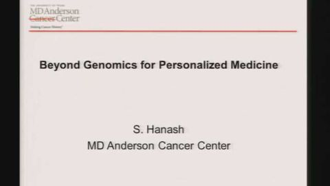 Beyond Genomics For Personalized Medicine
